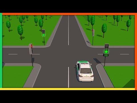 Светофор, дополнительные секции, светофор для трамвая. Курс ПДД РФ 2021