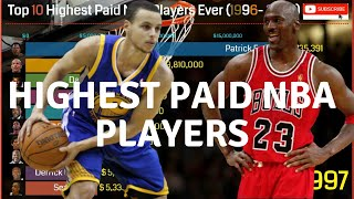 Top 10 Highest Paid NBA Player Ever (1996 -2020) | NBA Player Salaries | most paid nba player |