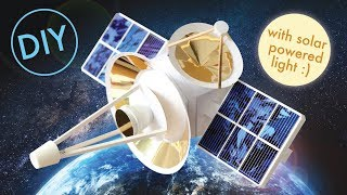 How to make a Solar Powered Toy Satellite