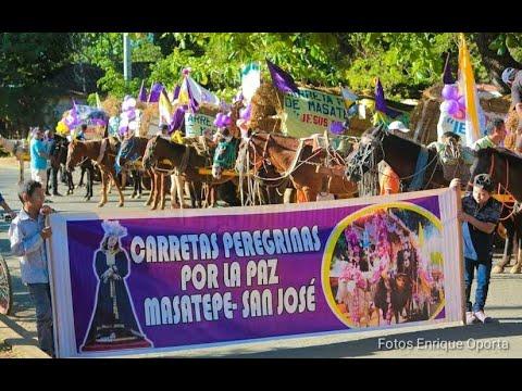 Carretas peregrinas inician recorrido hacia el Santuario de Popoyuapa