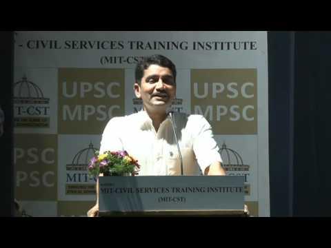 Shri Vishwasji Nangare IPS @ MIT Civil Services Training Institute