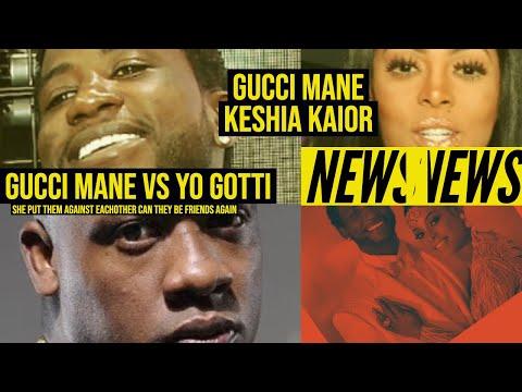 Gucci Mane vs Yo Gotti over Keyshia Kaoir 'Relationship Goals', she put them against each other????
