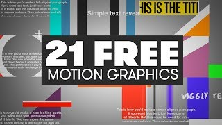 21 FREE Motion Graphics For Premiere | PremiumBeat.com