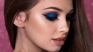 Navy Blue Smokey Eye Makeup Tutorial