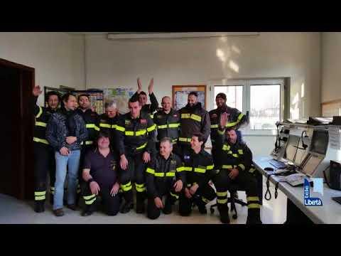 Il video messaggio di auguri dei vigili del fuoco di Piacenza