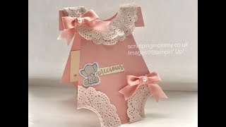 Cute new baby card ...... Stampin' Up! products