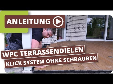 WPC Terrassendielen, nur 5cm Aufbau, einfach verlegen mit Klick System ohne Schrauben