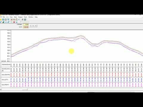 Road Profile In Excel Surveying & Engineering Designing