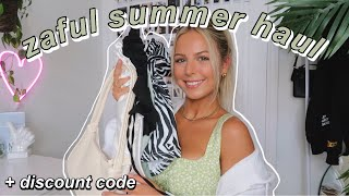 GIRLY SUMMER TRY-ON HAUL Ft. ZAFUL (+ Discount Code) | Floral, Dresses, Skirts, Bikinis, Etc!