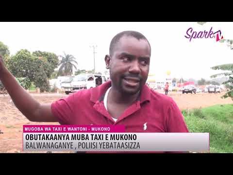 Ba ddereeva ba taxi bakubaganye e Mukono