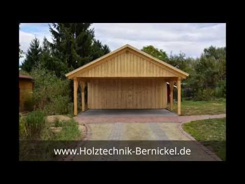 Satteldach Carport Berlin Holztechnik Bernickel Carport & Holzbau