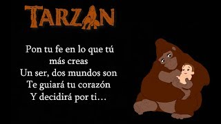 Tarzán - Dos Mundos (By: Phil Collins) (Letra)
