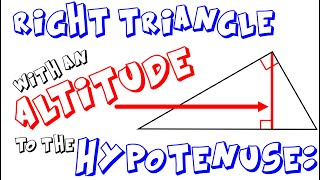 Altitude To The Hypotenuse Of A Right Triangle (Mean Proportional)