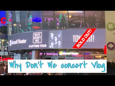 Best Day Ever: Why Don't We 8 Letters Tour Concert Vlog L.A - LovelyxSoraya