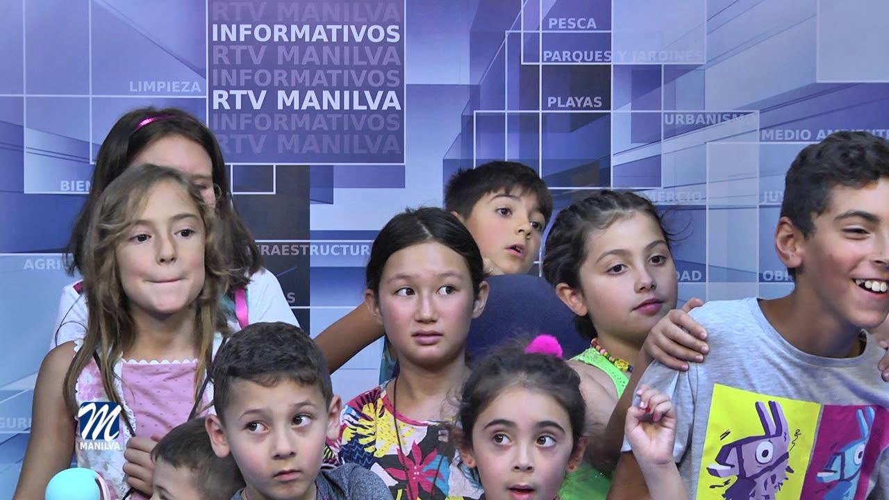 ALUMNOS DEL CAMPAMENTO EDUCARTE VISITAN RTV MANILVA