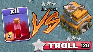 Clash Of Clans - Th7 Vs. All Skeletons Spells  3 Star Troll Attacking