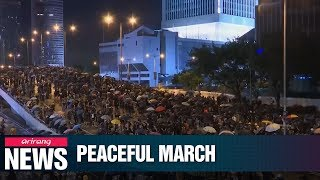 Hong Kong Protesters Hold 11th Week Of Protests With Peaceful March