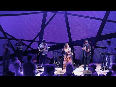 Billy performing with Snack Cat Band at National Sawdust