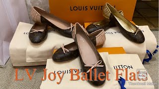 Louis Vuitton JOY BALLET FLATS (BALLERINAS) Review+ Sizing Preference+unboxing