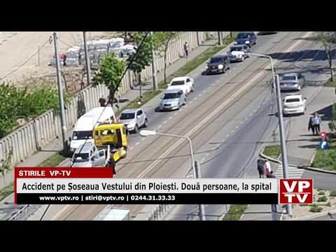 Accident pe Șoseaua Vestului din Ploiești. Două persoane, la spital