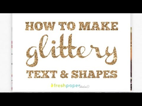 How to make glittery text in PicMonkey using overlays