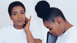 AFFORDABLE BACK TO SCHOOL HIGH BUN WITH MARLEY HAIR
