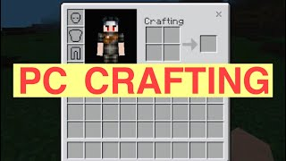 Minecraft PE | How To Get The PC Crafting And Inventory Menu