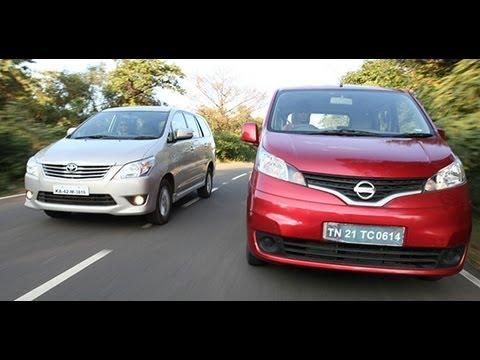 Comparo - 2012 Nissan Evalia vs Toyota Innova in India
