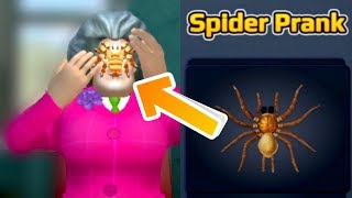 Scary Teacher 3D - Gameplay Walkthrough - Miss T - Spider Prank! Android - iOS