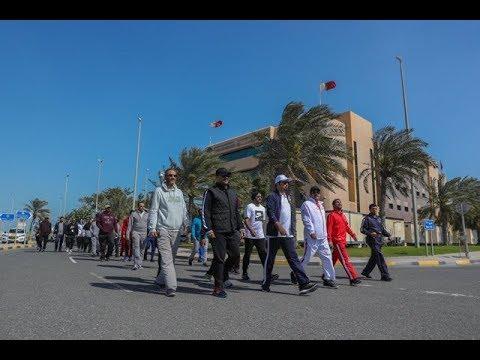 في يوم البحرين الرياضي ...منتسبو إدارات وزارة الداخلية يسجلون حضورا متميزا عبر فعاليات رياضية متنوعة