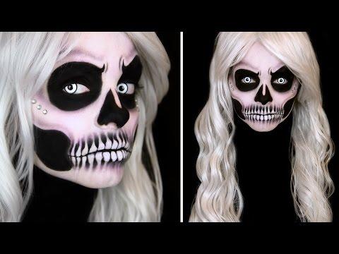 glam skull makeup tutorial spooktober watch the video. Black Bedroom Furniture Sets. Home Design Ideas