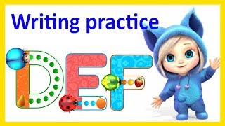Writing Practice DEF Letter Tracing Video | English Lessons For Children