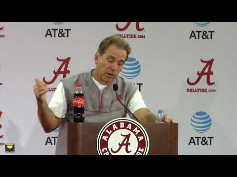 Nick Saban gets heated over quarterbacks question