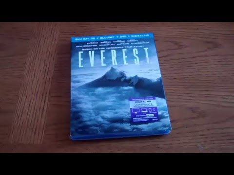 Everest - Unboxing the Blu-ray 3D + Bluray + DVD + Digital HD Edition