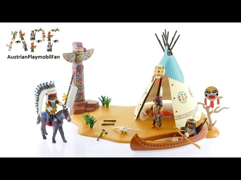 Vidéo PLAYMOBIL Western 4012 : SuperSet Campement des Indiens