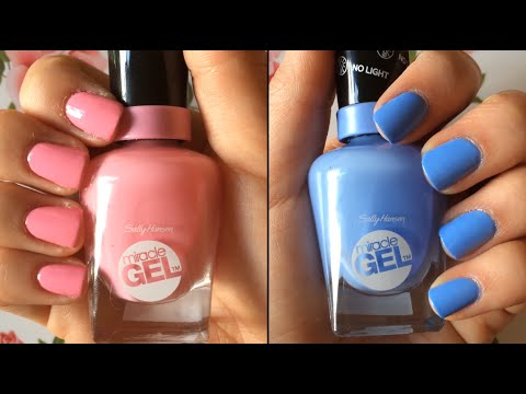 "Sally Hansen: ""Miracle Gel"" Nail Polish Review & Demo HD"