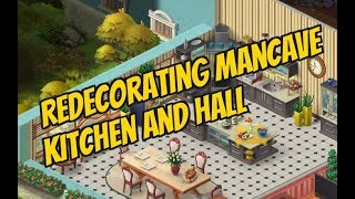 HOMESCAPES Gameplay Story Walkthrough Video   Redecorating Mancave / Hall and Kitchen