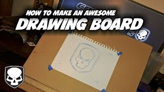 How to Make a Drawing Board - HD - Super Cheap - super aaawesome