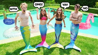 Last To Stop Being A Mermaid Wins $10,000 **SWIMMING POOL CHALLENGE**🧜♀️✨| Piper Rockelle