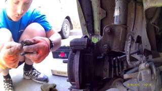 Chery QQ. Скрип в переднем колесе при торможении. Диагностика, ремонт.