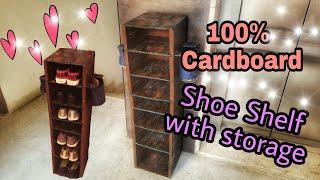 DIY : Cardboard Furniture: Cardboard Shoe Shelf Rustic Looks: