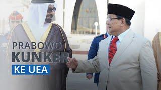 Terbang ke Abu Dhabi, Menhan Prabowo Subianto Teken Kerjasama Pertahanan dengan Uni Emirat Arab