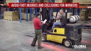 """Forklift """"Red Zone"""" Pedestrian Safety Warning Light V2"""