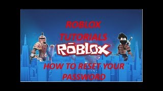 How to reset your roblox password without an email address