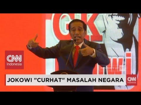 "Meledak-ledak, Presiden Jokowi ""Curhat""; Isu Utang, PKI, Indonesia Bubar 2030, Sampai Kaos"