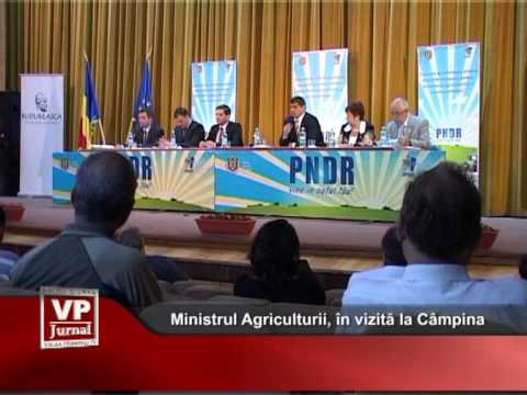 Ministrul Agriculturii, în vizită la Câmpina