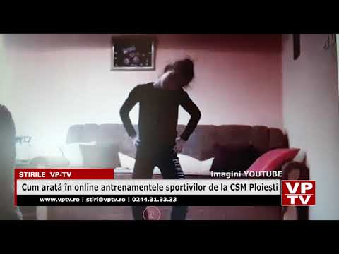Cum arată în online antrenamentele sportivilor de la CSM Ploiești