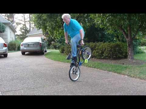Grandpa on a BMX