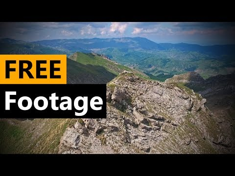 Drone On Mountain FREE Stock Video Footage Download Full HD