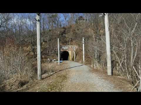 総レンガ造りの漆久保トンネル
